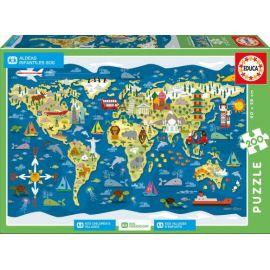 Puzzle Mappemonde - Educa