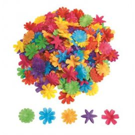 Fleurs en tissu 7 couleurs