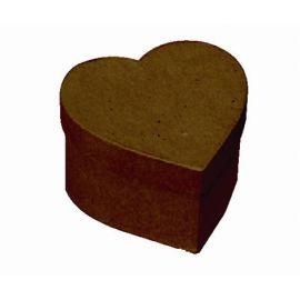 Boîte cœur en papier mâché