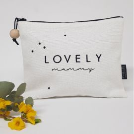 "Trousse brodée ""Lovely Mummy"""