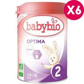Lait bébé bio Babybio Optima 2