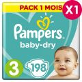 Couches Pampers Babydry Taille 3 - pack 1 mois