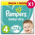Couches Pampers Babydry Taille 4 - pack 1 mois