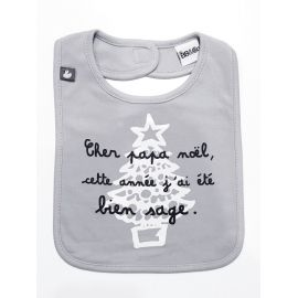 """Bavoir """"Cher Père Noël,..."""