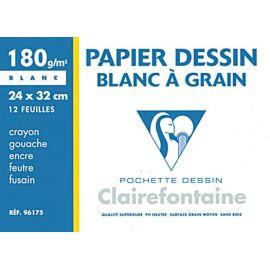 Papier blanc à grain moyen...