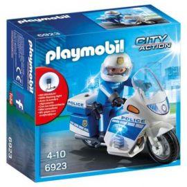 Moto de policier avec...