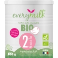 Lait infantile Bio everymilk 2 de 6 mois à 1 an - 1 boîte