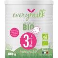 Lait infantile Bio everymilk 3 croissance de 10 mois à 3 ans - 1 boîte