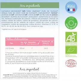 Lait infantile Bio everymilk 2 de 6 mois à 1 an - lot de 3 boîtes