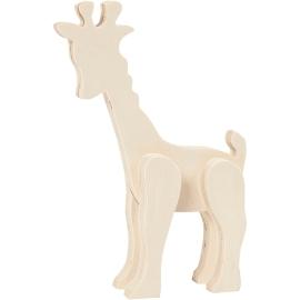 Figurine Girafe en bois à...