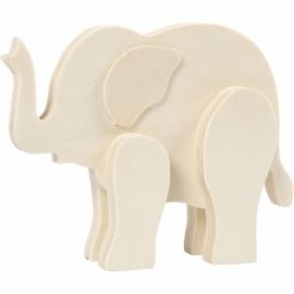 Figurine Eléphant en bois à...