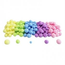 Pompons pastels, sachet de 200