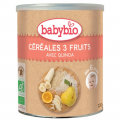 Céréales 3 Fruits avec Quinoa (boite de 220g) - dès 6 mois  - Babybio