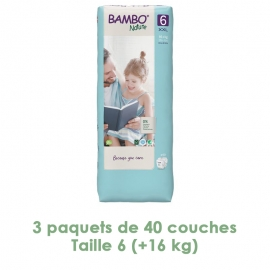 Couches Bambo Nature XL T6...