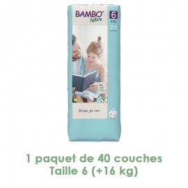 Couches Bambo Nature, XL T6...