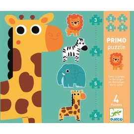 Puzzle Primo dans la jungle